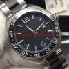 Cadran noir (bracelet deux tons)