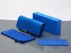 حالة الزرقاء + مربع + قطعة قماش + الحقيبة