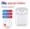 I9S Tws Earphone Headphone With pop up window Stereo TWS Earbuds for IOS Android Phone With Charging Box Wireless Bluetooth Headphone