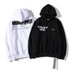 OFF brand WHITE designer hoodie street fashion classic women mens hoodies letter stripe print Plus velvet sweatshirt new loose large size
