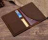 Leather Passport Cover - Retro Womens Mens Passport Holder Bag Travel ID Credit Card Holder Case 10 Colors