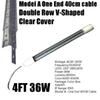 4Ft 36W V 형 투명 커버