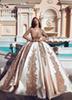 2019 New Arrival Princess Quinceanera Dresses V Neck Lace Long Illusion Sleeves Gold Applique Sweet 16 Dress Luxury Long Prom Dresses BC1383
