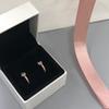 Pendiente de rosa + caja