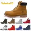 Timberland designer luxury boots for mens winter boots top quality womens Military Triple White Black Camo size 36-45