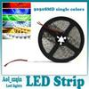 top quality 5050 smd led strip light single color pure cool warm white red green blue yellow non-waterproof 300leds 5m reel