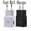 Tope Quality Fast Charger Travel Wall Chargers Fast Charging Adapter US EU Plug For Samsung Galaxy S6 S8