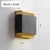 Svart och guld, varm vit LED