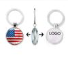 Creative Designer Keychain World Cup 32 Key Chain Football Flag Time Gem Key Ring Car Pendant Custom logo Wholesale for iphone 11 pro max
