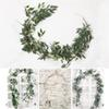 Home Wedding Decor Hanging Flowers Rattan 1.65M Artificial Ivy Leaf Garland Evergreen Vine Plants Fake Green Plants Rattan DH0916 T03