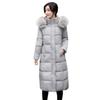 Hxroolrp Womens Coat Autumn Winter Hooded Thick Warm jaqueta Slim Overcoat Girl Faux Fur Hat jaquetas feminino chaqueta mujer C4