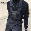 Fashion Nylon Chest Rig Bag Black Vest Hip Hop Streetwear Functional Tactical Harness Chest Rig Kanye West Wist Pack Bag