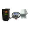 best a set pid temperature controller 220V Max temperature 1300°C two lines display+2M K thermocouple+Max 40A ssr+heat sink