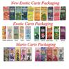30 Flavors Exotic Carts Mario Carts Packaging Ziplock Bags Package for Exotic Carts Vape Cartridge Cearamic Coil 1.0ml AC1003 Vape Tank