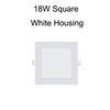 18W Plaza de la carcasa Blanco