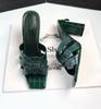 Tacones verdes de 9cm