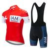 2019 Men IAM Cycling Jersey Set Summer Bike Shirt bib shorts suit Outdoor Sportswear Mtb Bike Wear Ropa Ciclismo Y022203