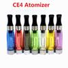 CE4 Atomizer eGo Clearomizer 1.6ml 2.4ohm vapor tank Electronic Cigarette atomizer for e-cig battery colors CE4+ CE5 free shipping