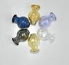 Colored 20mm Puffco Peak Insert Carb Cap with Bubble Ball Glass Carb Caps Dabber Universal Caps for Quartz Smoking Water Pipes