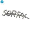 New Fashion Girls Silver Letters Rhinestone Hair Clips Alloy Hairpins Haarklem Barrette Hair Accessories For Womens