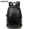 2018 Brand waterproof 15.6 inch laptop backpack men leather backpacks for teenager Men Casual Daypacks male