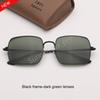 검은 색 프레임 - 어두운 녹색 렌즈