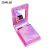 Female Embroidery Heart Lipstick Pack Crystal Color Laser Woman Make up Bag Mirror Cosmetic Bag Travel Organizer Toiletry Bags