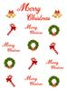 Christmas Wreath and Cane Bells Decoration Photography Backdrops White Photo Booth Backgrounds for Merry Christmas Studio Props