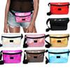 Pink letter Fanny Pack Hologram Laser Waist Belt Bag Waterproof Translucent Shiny Travel Beach Outdoor Bags 9 Colors