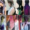 3 tone ombre braiding hair Kanekalon jumbo braids Fashion synthetic hair extension synthetic braiding hair more colors