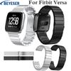 Stainless steel Band for Fitbit versa Metal Strap Wearable Wriststrap Watchbelt for Fitbit versa watchstrap watchband 2019 new