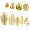 Gold Turtle Leaf Artificial Tropical Palm Leaves for Hawaii Luau Party Decorations Beach Theme Wedding Flower Table Decoration