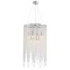 Modern Linear Round Chandeliers Island Crystal Chandelier Pendant Lamp Light Fixture for Bedroom Dining Room Kitchen D 20""