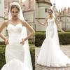 2020 Sexy Sweetheart Open Back Court Train Bridal Gowns Custom Made Wedding Dresses Fabulous Simple Tulle Mermaid Wedding Dresses Cheap