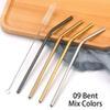 9 couleurs de mélange plié