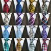 295 Styles 8cm Men Silk Ties Fashion Mens Neck Ties Handmade Wedding Tie Business Ties England Paisley Tie Stripes Plaids Dots Necktie