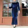 فستان أزرق غامق L