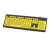 NEW USB Large Letters Yellow Button Elderly Child Keyboard