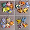 25 Style Pikachu Charmander Bulbasaur Squirtle Dragonite Eevee Mewtwo Snorlax PVC Keychain Action Figure For Child Holiday Party Gifts 4-7cm