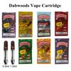 DABWOODS Carts Vape Cartridge Packaging 0.8ml 1ml TH205 Ceramic Coil Empty Vape Pen Cartridges Wood Drip Tip 510 Thick Oil Vaporizer