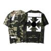 OFF brand WHITE designer shirt USA famous trend fashion mens t shirt limited edition Cross arrow print classic t shirts couple casual tshirt
