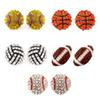 2019 sports basketball volleyball stud earrings Bling Baseball Softball Stud Earrings Rhinestone Crystal Bling Sports Girls