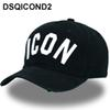 DSQICOND2 Wholesale Cotton Baseball Caps ICON Logo DSQ Letters High Quality Cap Men Women Customer Design Hat Black Cap Dad Hats