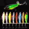 Whopper Plopper 105mm 17.2g Artificial Top Water Fishing Lure Artificial Hard Bait Poper Wobbler Rotating Tail Fishing Tackle 3D Eyes