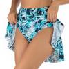 Women's Bikini Bottom 2020 New Swimming Skirt Fashion Print Beach Pants Safe High Waist Triangle Swimming Trunks