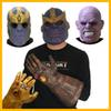 Avengers 3 Infinity War Thanos Mask and Gloves Adult Halloween Cosplay Natural latex Infinity Gauntlet Toys IMMEDIATELY DELIVERY