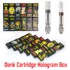 Black Package Dank Vapes Hologram 3D Box Side Cereal Carts Cartridge Box 0.8ml 1.0ml Ceramic Coil Tank Vape G5 for 510 Thick Oil Atomizer