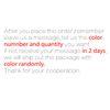 Mesaj Açıklama Renk Numarası