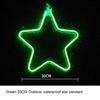 النجوم 30CM الأخضر