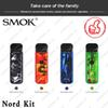Authentic SMOK Nord Kit Pod System Kits 1100mah with Fire Button Nord Cartridge 3ml Mesh & Regular Coils for Both Sub-ohm & MTL Vaping DHL